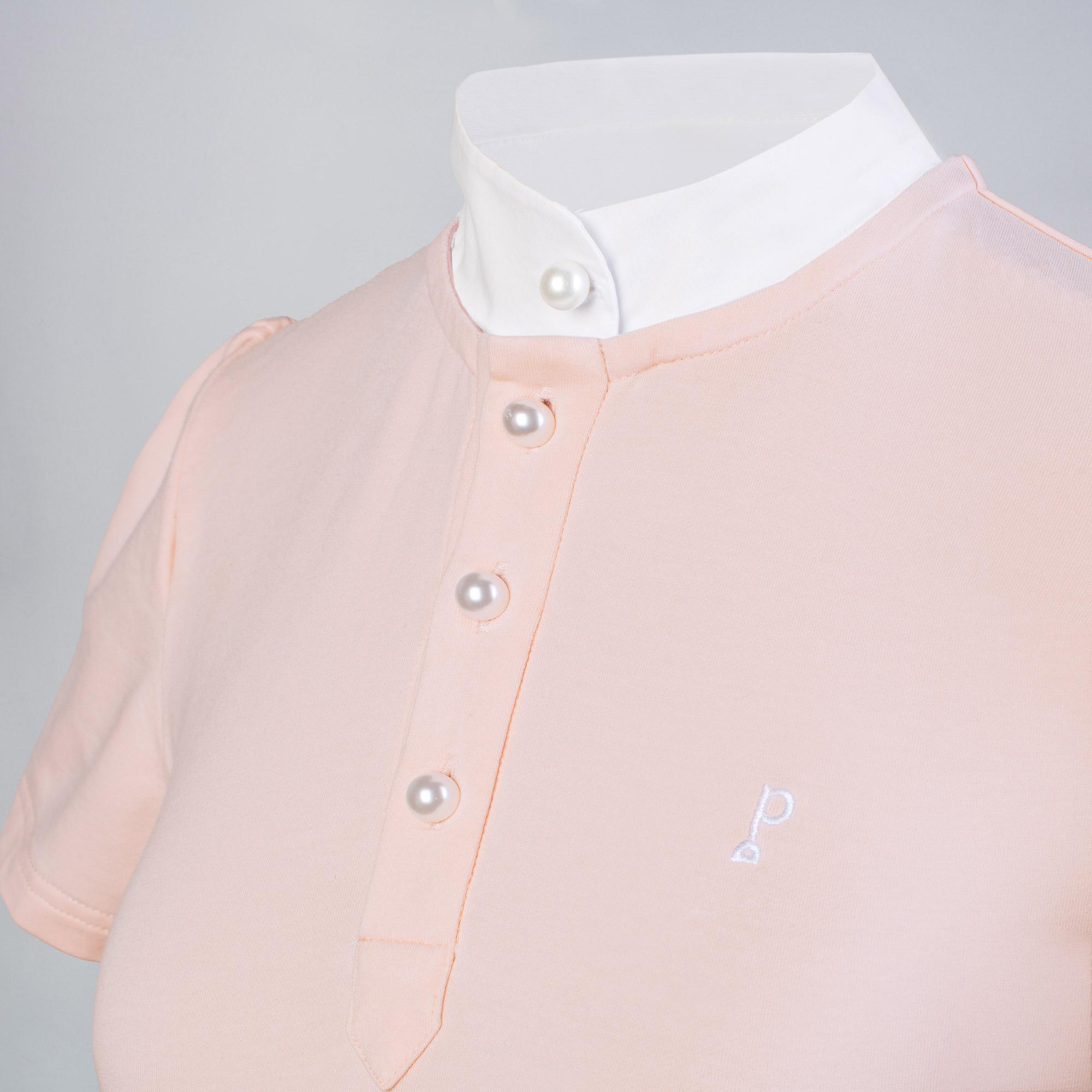 Polo Équitation Enfant - modèle Iconique couleur rose byTriple
