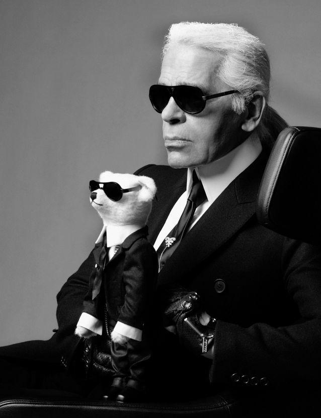 Karl Lagerfeld et Teddy-Bear