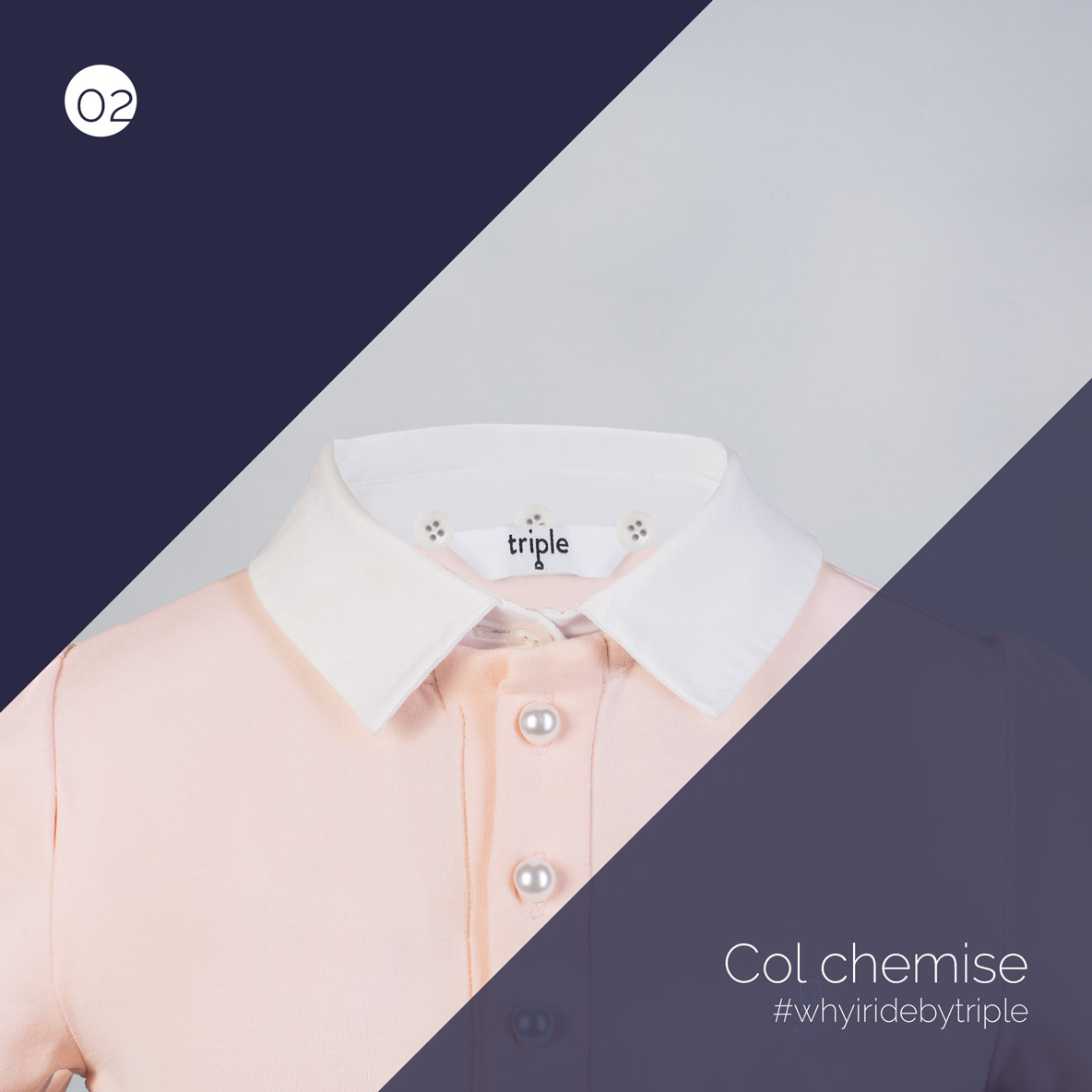 col chemise amovible pour polo - triple